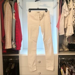 Mother White Leather Jeans